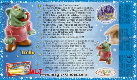 BPZ Jouet kinder Magic Lessons 2S-14 France 2006