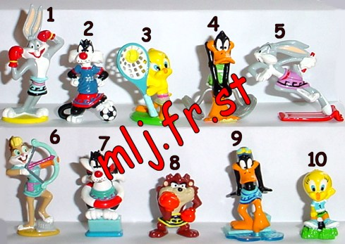 Looney tunes in kinder joy name collection duplicate